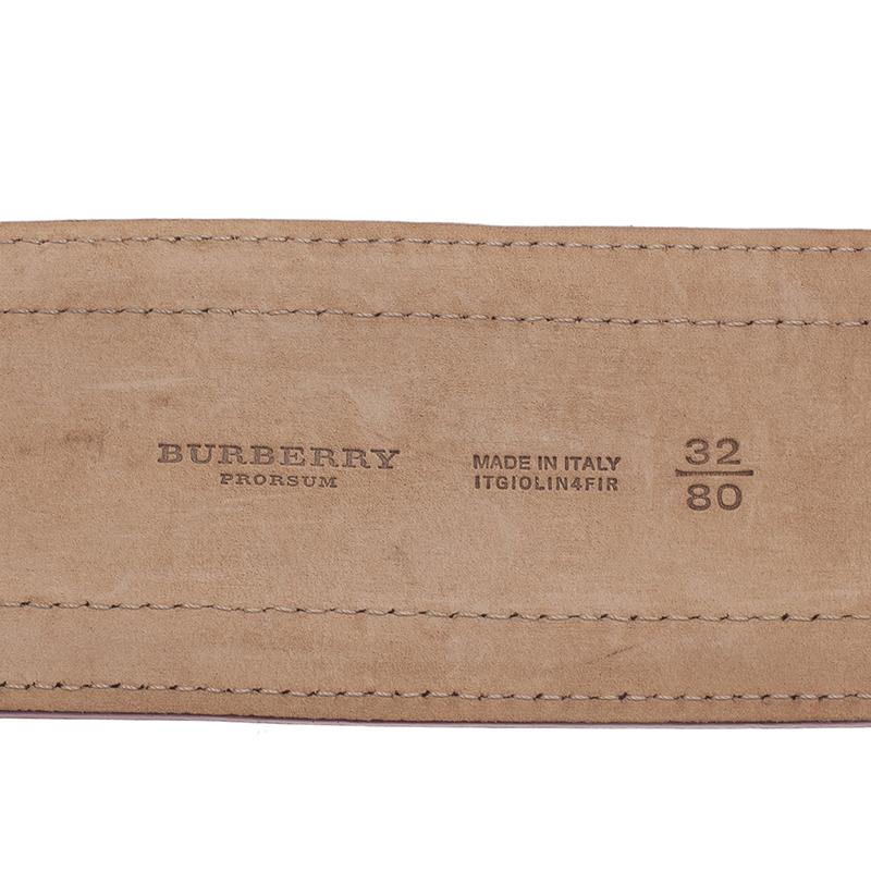 Burberry Prorsum Pink Patent Leather Corset Belt 80CM