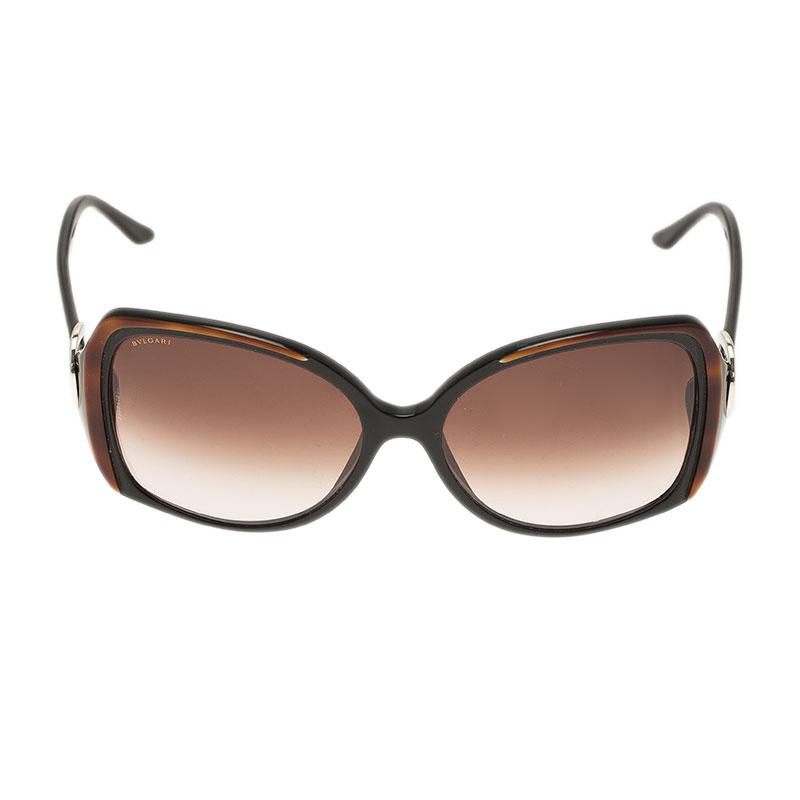 Bvlgari Brown 8035 Square Sunglasses