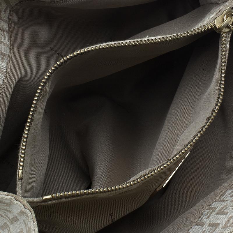 Fendi Beige Zucchino Small Tote Bag