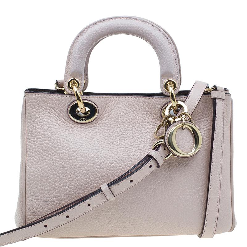 Dior Pink Smooth Calfskin Leather Mini Diorissimo Tote Bag