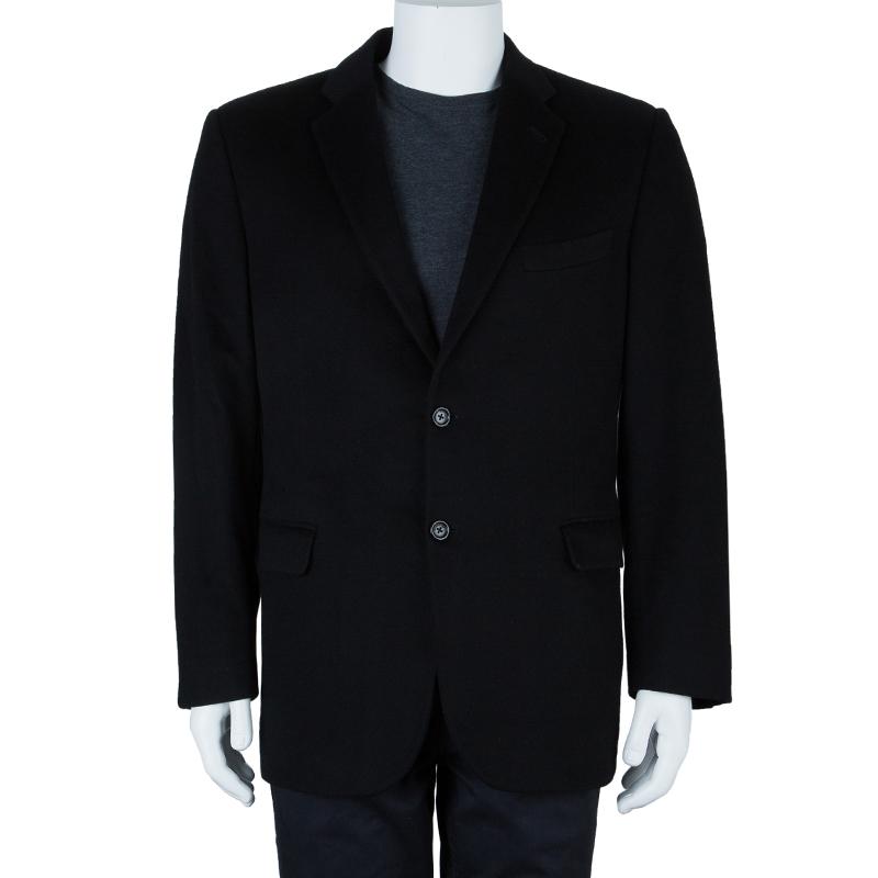 Burberry Men's Black Wool Blazer L