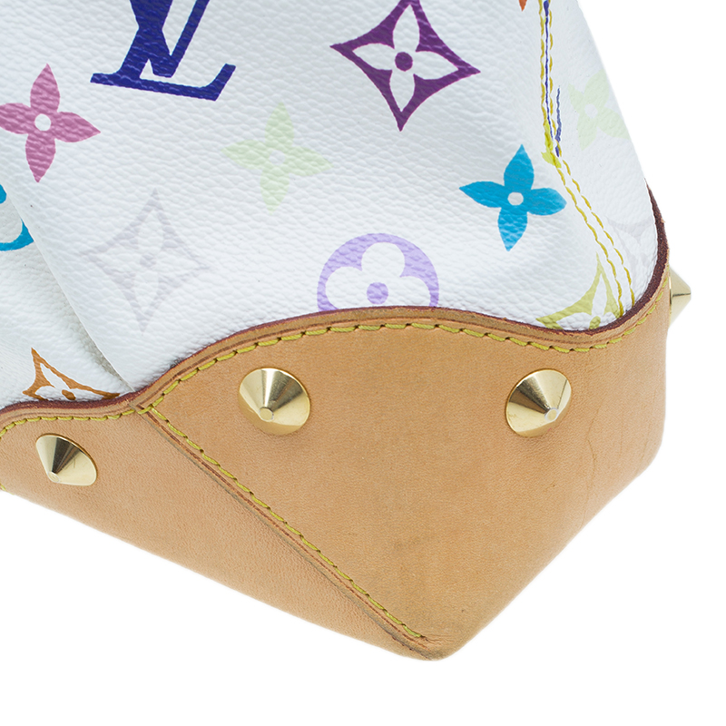 Louis Vuitton White Multicolor Monogram Canvas Judy Bag MM