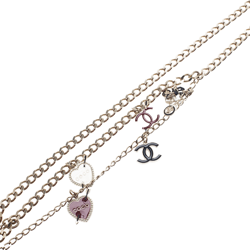Chanel CC Charms Chain Necklace Belt
