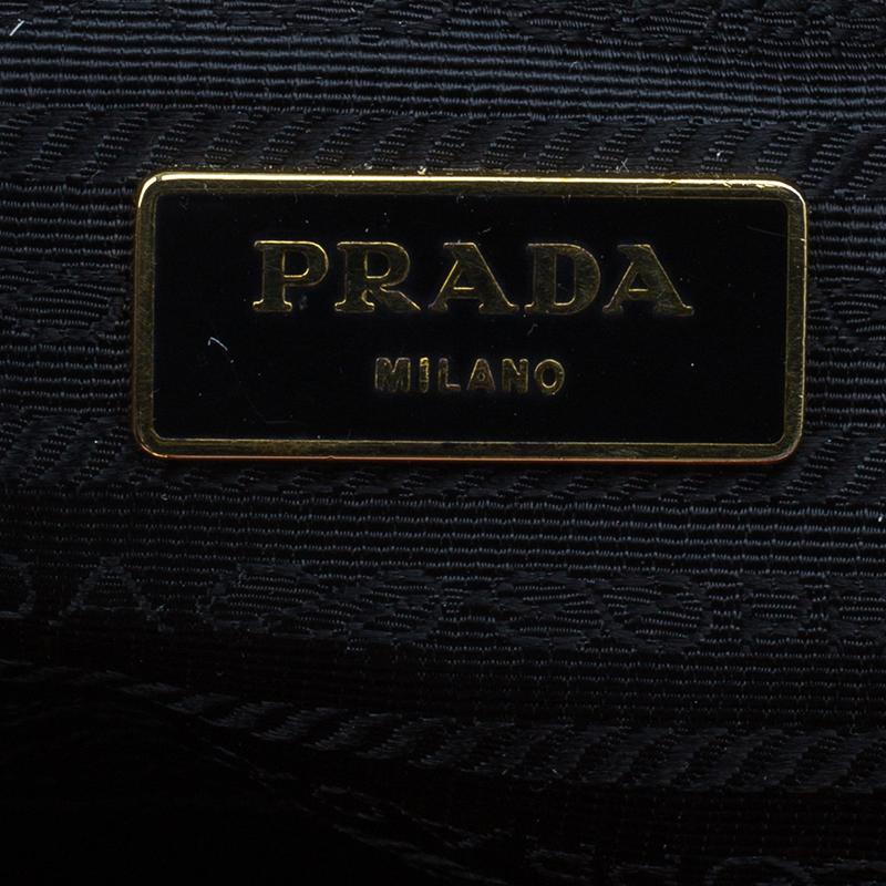 Prada Red Patent Leather Floral Framed Top Handle Bag