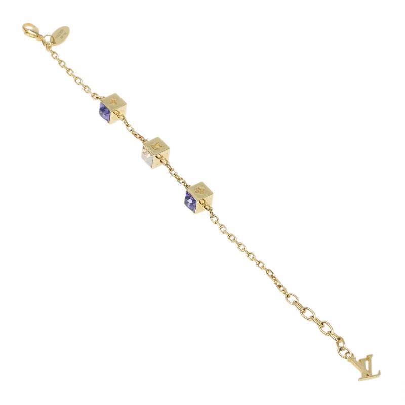 Louis Vuitton Gamble Gold Tone Bracelet