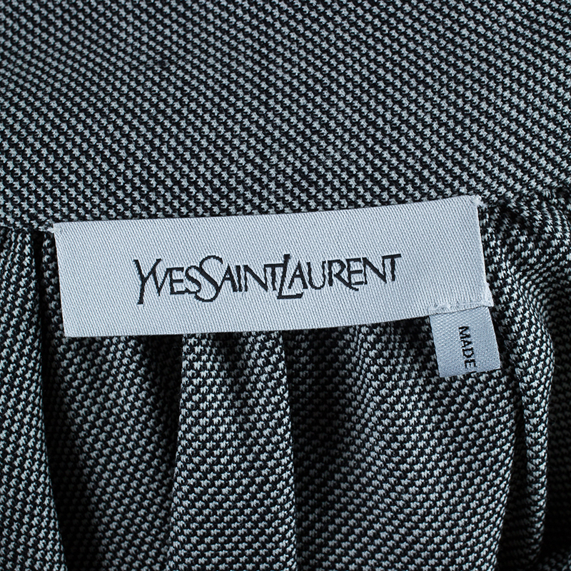 Saint Laurent Paris Monochrome Neck-tie Top S