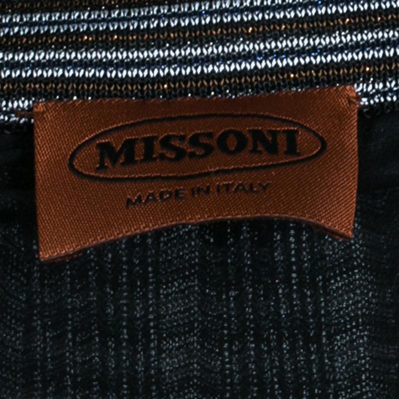 Missoni Multicolor Striped Knit Maxi Skirt M