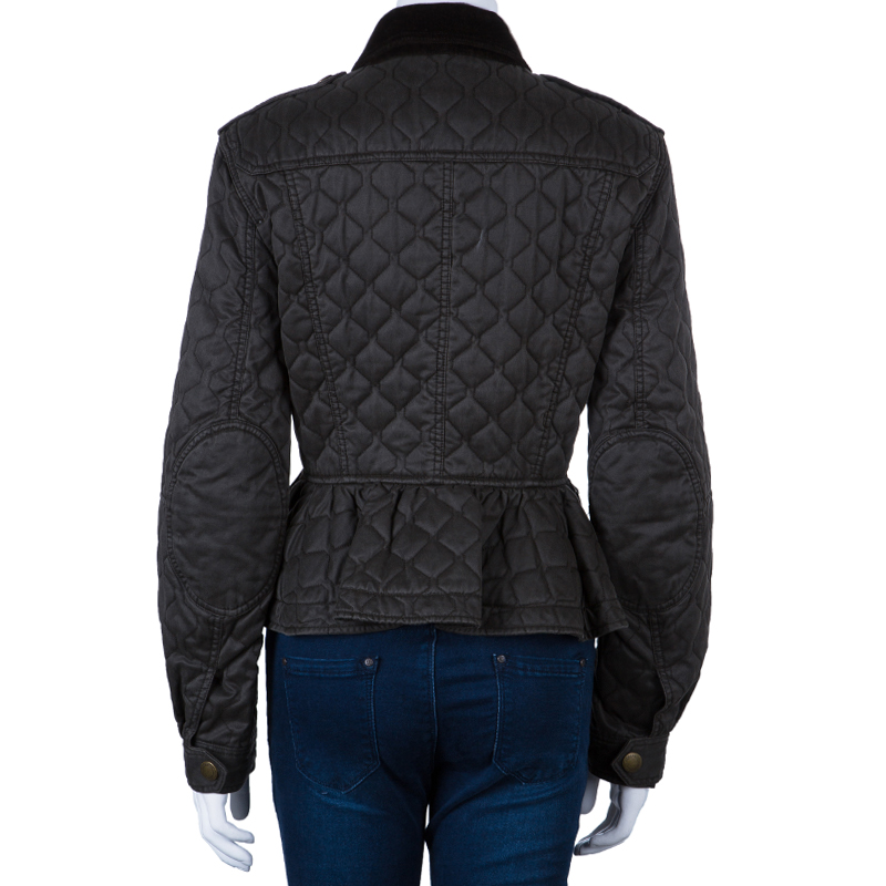 Burberry Brit Grey Quilted Short Jacket L