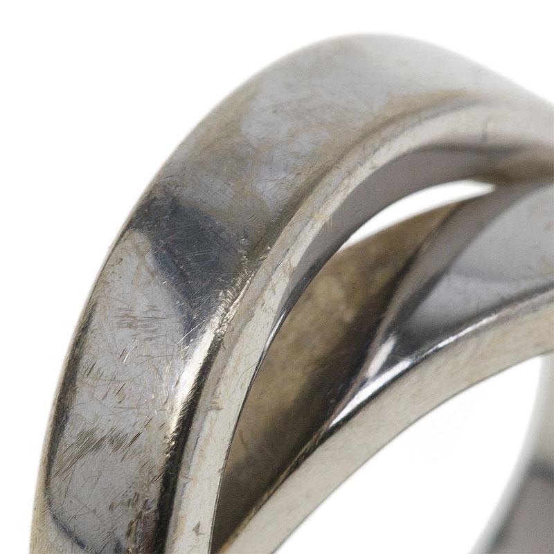 Cartier Nouvelle Vague White Gold Ring Size 46