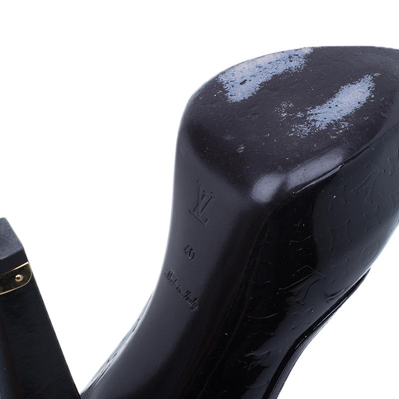 Louis Vuitton Amarante Monogram Vernis Tamara Slingback Sandals Size 40