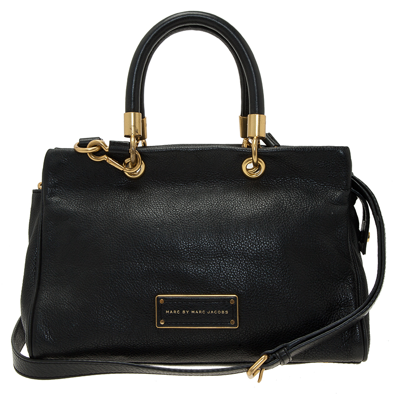 Marc by Marc Jacobs Black Leather Small Too Hot To Handle Tote Bag