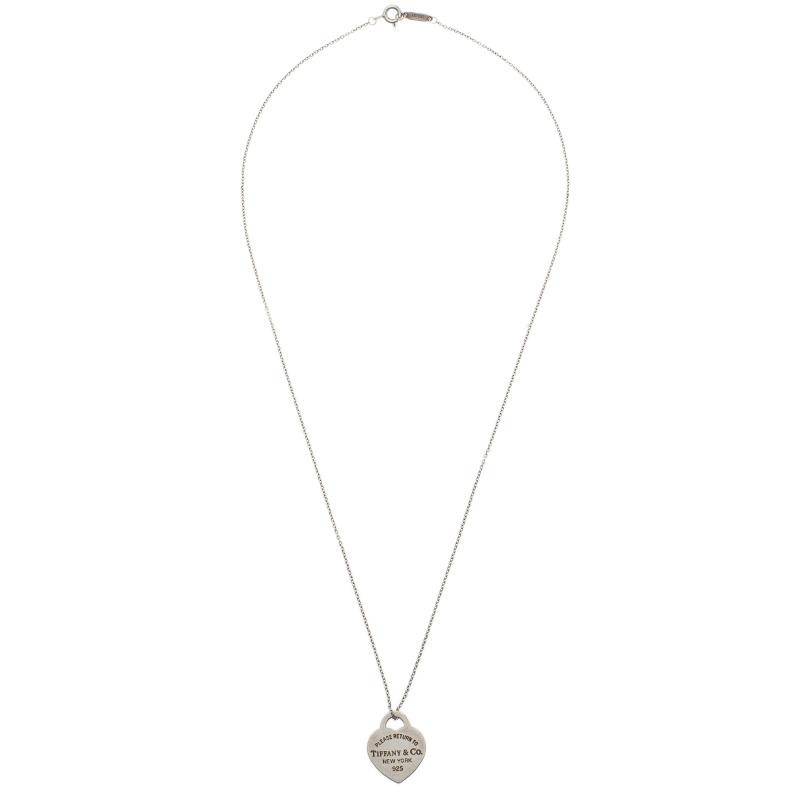 Tiffany & Co. Return To Tiffany Silver Heart Pendant Necklace Medium