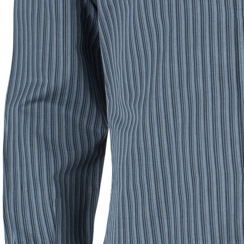 Z Zegna Men's Dark Grey Striped  Shirt M