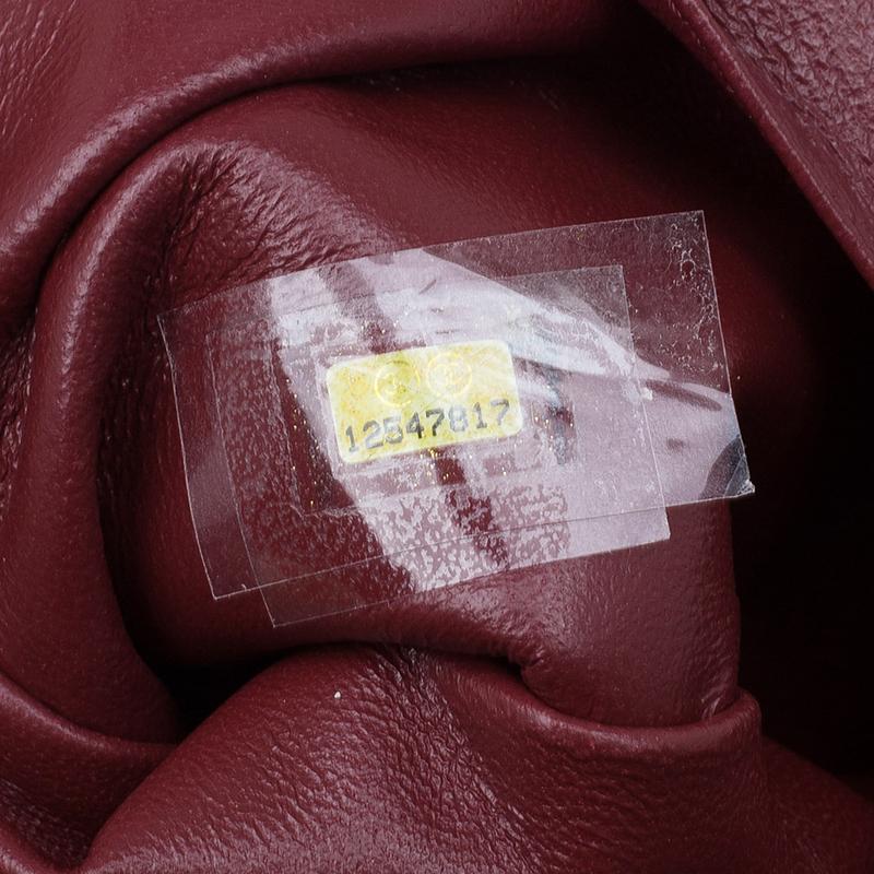 Chanel Burgundy Patent Leather Bon Bon Tote Bag
