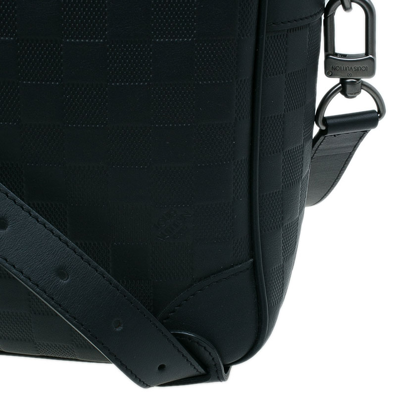 Louis Vuitton Onyx Damier Infini Leather Porte Documents Voyage GM Bag