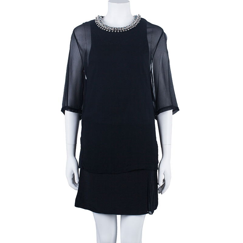3.1 Phillip Lim Embellished Neck Dress S