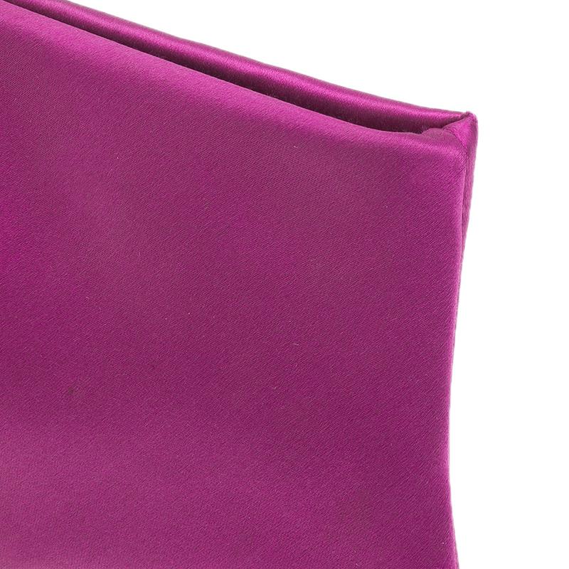 Valentino Pink Satin Bow Evening clutch