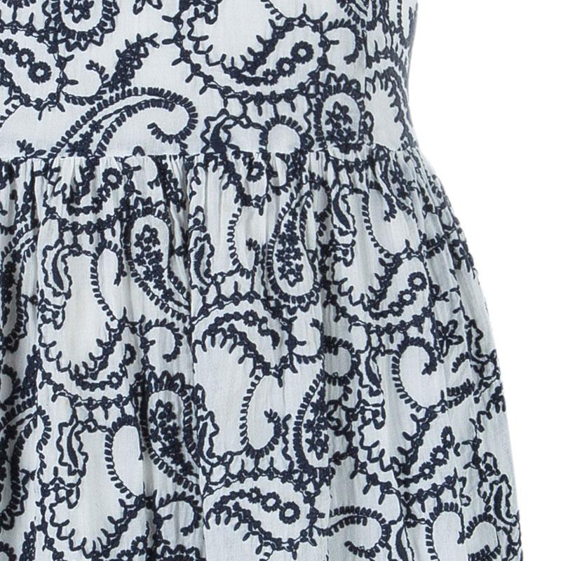 CH Carolina Herrera Paisley Embroidered Dress L