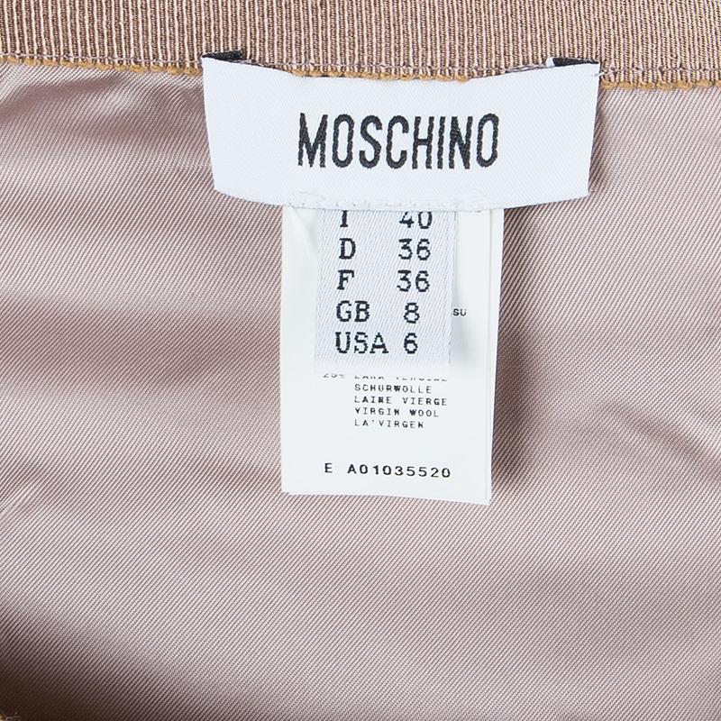 Moschino Plaid Tweed Skirt S