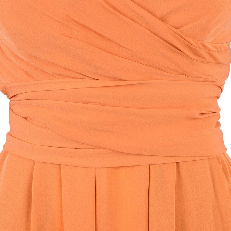 Catherine Malandrino Tangerine Strapless Jumpsuit L