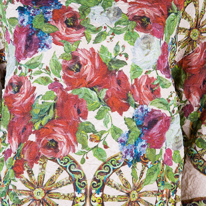Dolce And Gabbana Floral Jacquard Top M