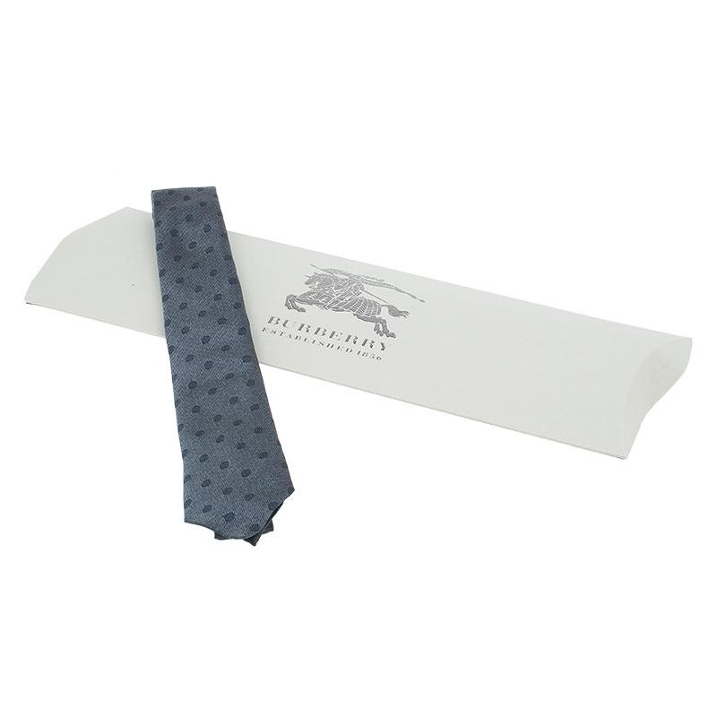 Burberry Grey Polka Dot Silk Tie
