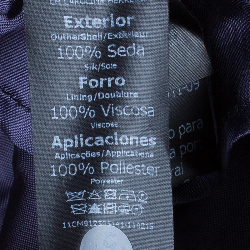 Carolina Herrera Blue Polka-dot Belted Gown M