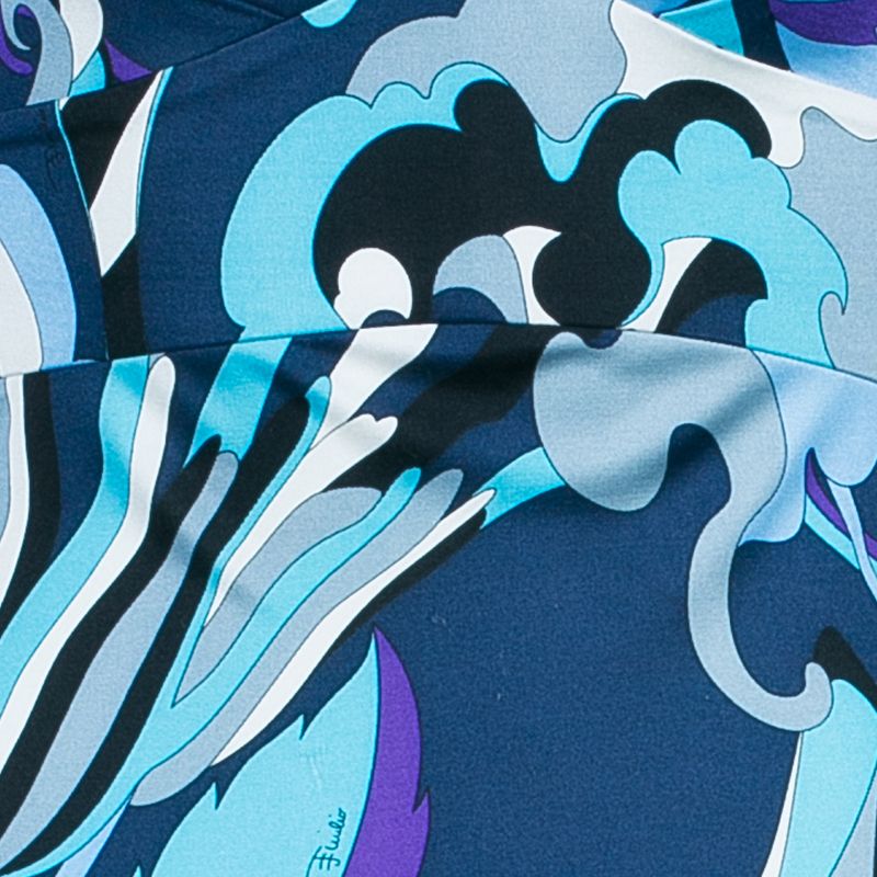 Emilio Pucci Abstract Print Midi Dress S