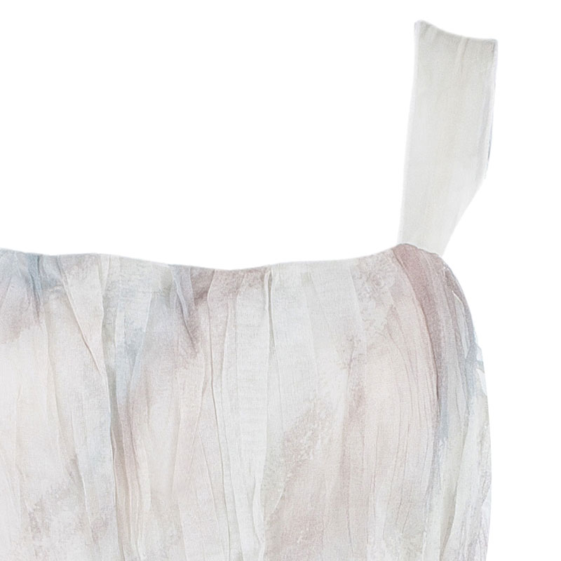 Dolce and Gabbana Beige Limited Edition Organza Dress S