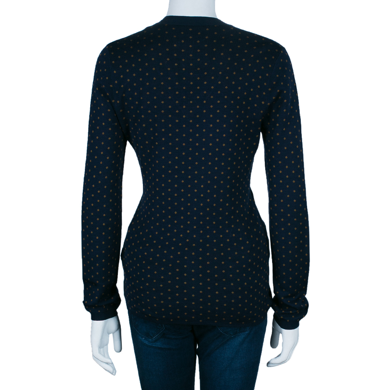 Burberry Polka Dot Knit Sweater M