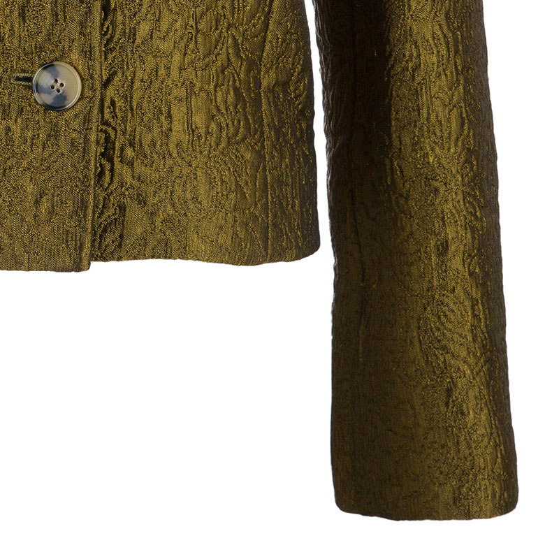 Philosophy di Alberta Ferretti Bronze Textured Jacket M
