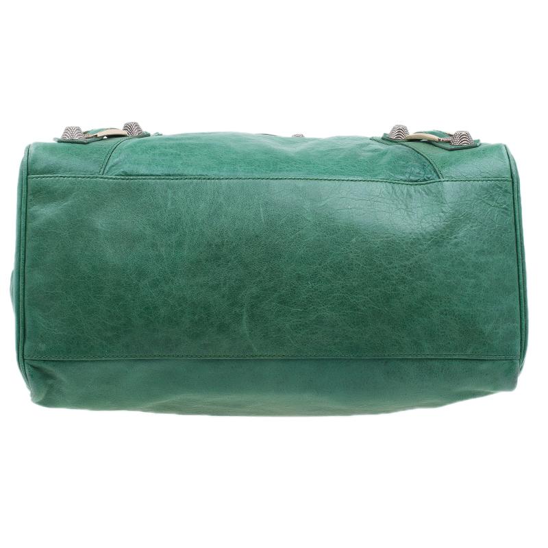 Balenciaga Green Lambskin Giant 21 Midday Bag