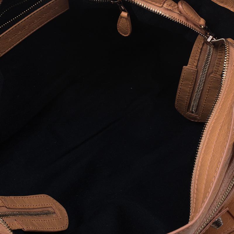 Balenciaga Rose Blush Lambskin Leather Giant 12 Rose Gold City Bag