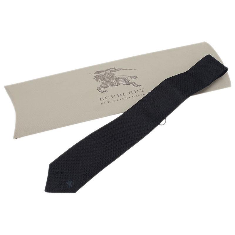 Burberry Black Silk Embroidered Tie