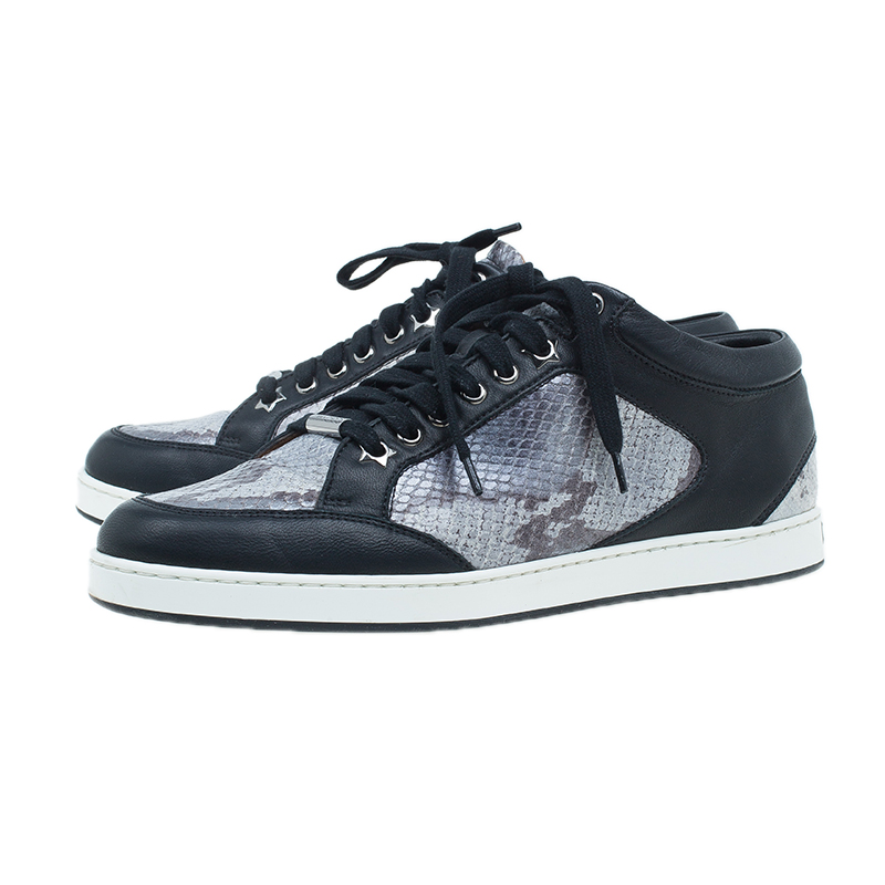 Jimmy Choo Two Tone Snake Print Miami Sneakers Size 39