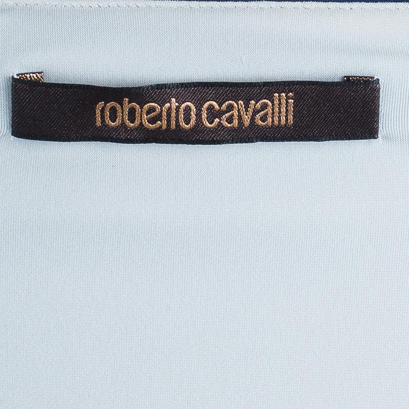 Roberto Cavalli Floral Printed Stretch Maxi Dress S