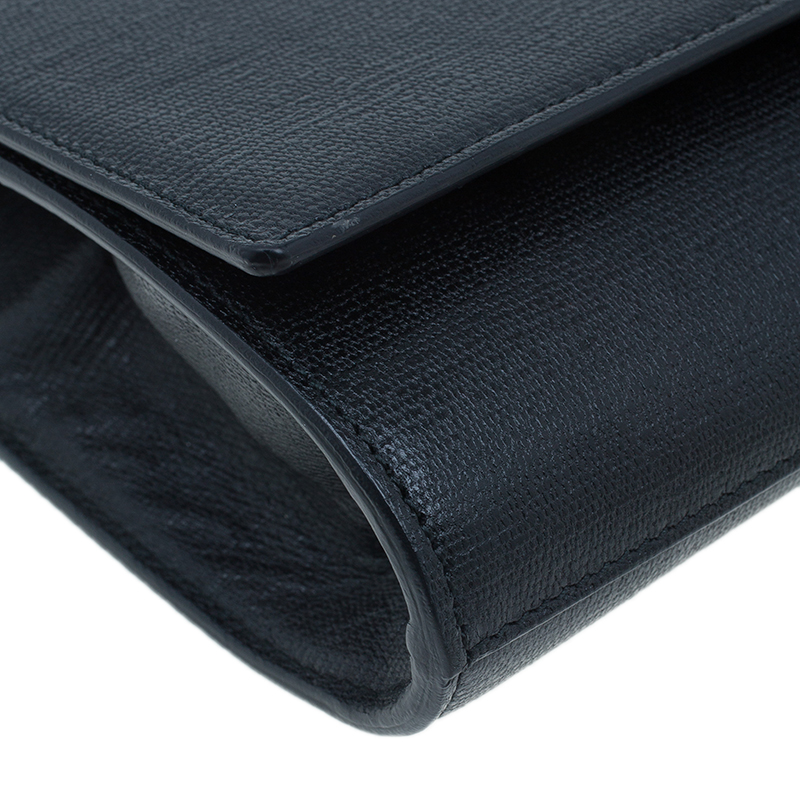 Saint Laurent Paris Black Leather Large CHYC Clutch