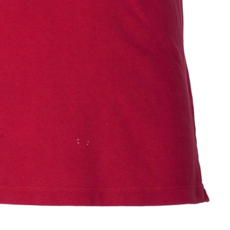Burberry Men's Red Cotton Polo Shirt S