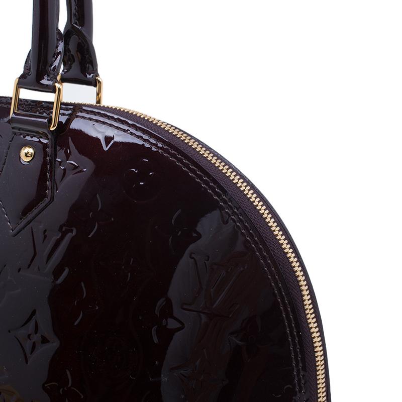 Louis Vuitton Burgundy Monogram Vernis Alma GM