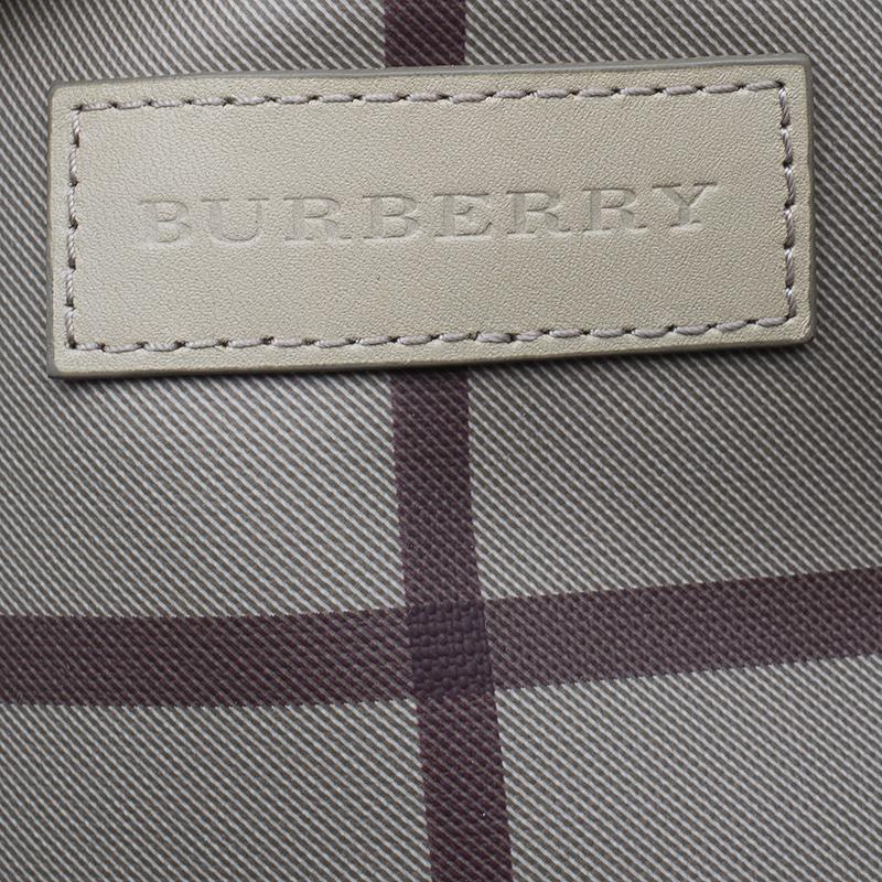 Burberry Grey Haymarket Nova Check Tote Bag