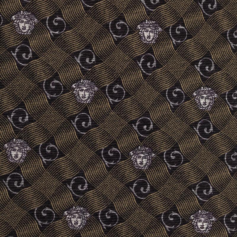 Versace Grey Medusa Tie