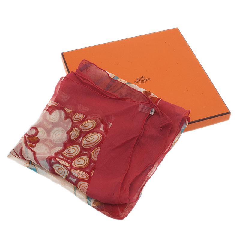 Hermes Pink Ceramique Ottomane Silk Square Scarf