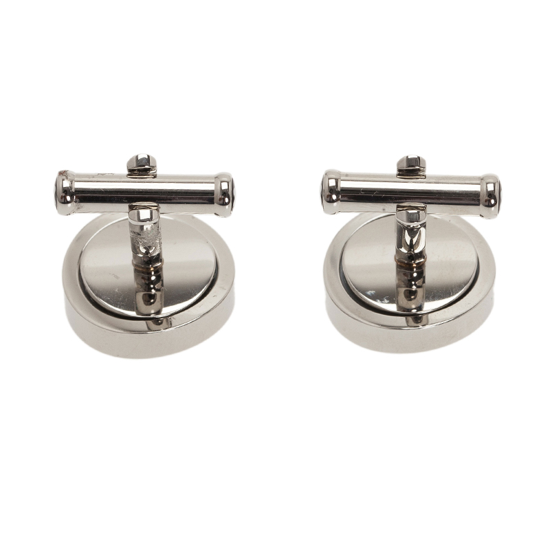 Montblanc Onyx Rotating Stainless Steel Cufflinks