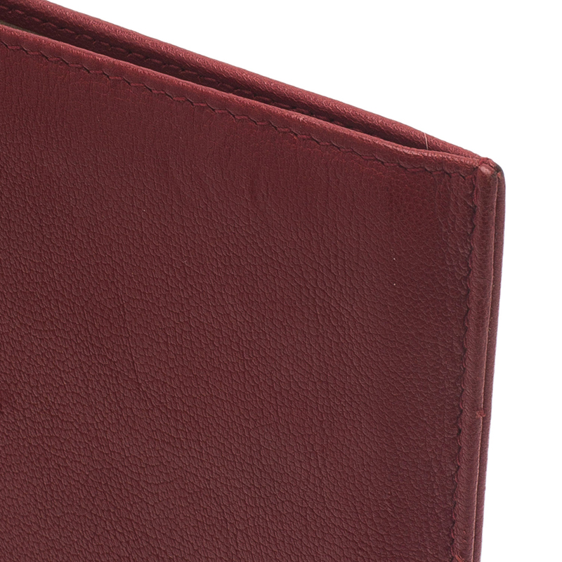 Saint Laurent Paris Red Leather Belle Du Jour iPad Sleeve