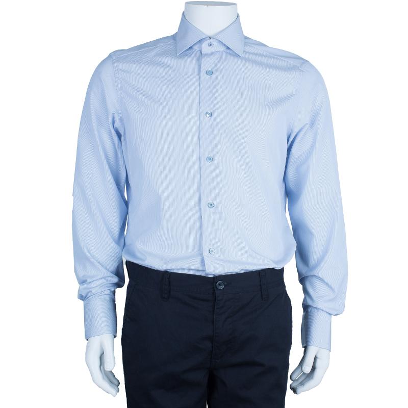 Ermenegildo Zegna Formal Pinstripe Shirt L